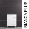 Vertex Bianca Plus 60 alacsony szekrény 1 ajtóval, 4 fiókkal,sonoma tölgy színben, balos