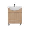 Vertex Bianca Plus 65 alsó szekrény mosdóval, sonoma tölgy színben