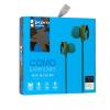 Vezetékes sztereó fülhallgató, 3.5 mm, cipőfűző minta, Como, M8, kék