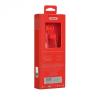 Vezetékes sztereó fülhallgató, 3.5 mm, felvevőgombos, Remax Candy, RM-502, piros
