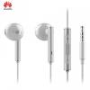 Vezetékes sztereó fülhallgató, 3,5 mm jack, felvevő gomb, Huawei, fehér, gyári, AM-116