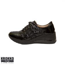 Via Roma B2168 fekete hüllő lakk sneaker sportcipő női cipő