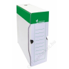 VICTORIA Archiváló doboz, A4, 100 mm, karton, VICTORIA, zöld-fehér (IDVAD10Z)