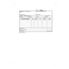 """VICTORIA """"B.13-374"""" 50x30 lapos A5 egy áfás fekvő számlatömb nyomtatvány"""