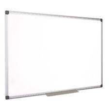 VICTORIA Fehértábla, mágneses, zománcozott, 100x100 cm, alumínium keret, VICTORIA mágnestábla
