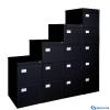 VICTORIA Függőmappa tárolószekrény 3 fiókos fekete