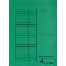VICTORIA Gyorsfűző, karton, A4, VICTORIA, zöld lefűző