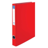 VICTORIA Gyűrűs könyv, 2 gyűrű, 35 mm, A4, PP/karton, , piros