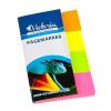 VICTORIA Jelölőcímke, papír, 4x40 lap, 20x50 mm, VICTORIA, vegyes szín LVJP2