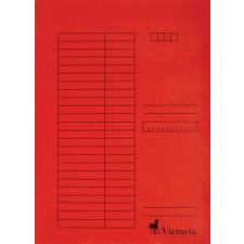 VICTORIA Pólyás dosszié, karton, A4, VICTORIA, piros mappa