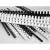 VICTORIA Spirál, műanyag, 6 mm, 10-20 lap, VICTORIA, fekete [100 db]