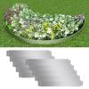 vidaXL 10 db hajlékony galvanizált acél gyep kerítés szett 100 x 15 cm