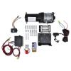 vidaXL 12V Elektr. Csörlő 1360kg Szerelőlap Görgő Vezeték nélküli Távirányító