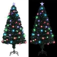 vidaXL 170 ágú műfenyő talppal és LED fénnyel 150 cm dekoráció