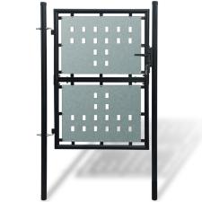 vidaXL 1 ajtós kapu 100 x 175 cm fekete építőanyag