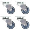 vidaXL 24 db dupla kerekes önbeálló görgő 50 mm