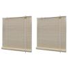 vidaXL 2 db természetes bambuszroló 120 x 160 cm