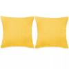 vidaXL 2 db velúr párna 60 x cm sárga