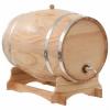 vidaXL 35 literes tömör fenyő boroshordó csappal