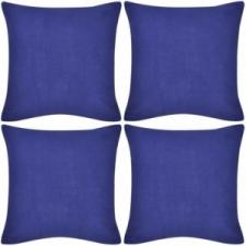 vidaXL 4 db pamut párnahuzat 80 x 80 cm kék kerti dekoráció