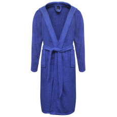 vidaXL 500 g/m² Egynemű Terry fürdőköppeny 100% pamut Kék M
