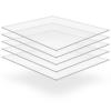 vidaXL 5 db 10 mm vastag átlátszó plexilemez 40 x 60 cm