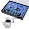 vidaXL Airbrush készlet üvegtartállyal 0,2 / 0,3 0,5 mm-es fúvókákkal