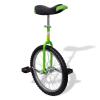 vidaXL Állítható egykerekű kerékpár 20 inch zöld