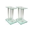 vidaXL Alumínium Hangfal állványok Átlátszó biztonsági üveg 2db