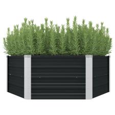 vidaXL antracitszürke horganyzott acél kerti magaságyás 129x129x45 cm dekoráció