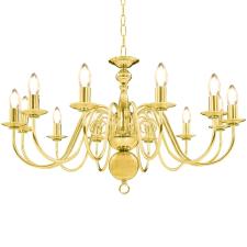 vidaXL aranyszínű csillár 12 db E14 izzófoglalattal kültéri világítás