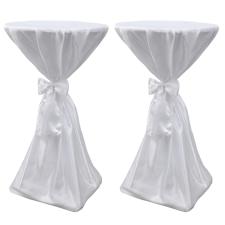 vidaXL Asztal Borító Fehér 60 cm Szalaggal 2 db bútor