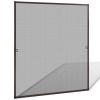 vidaXL Barna szúnyogháló ablakra 130 x 150 cm