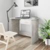 vidaXL Betonszürke forgácslap íróasztal 100 x 50 x 76 cm