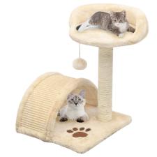 vidaXL bézs/barna macskabútor szizál kaparófával 40 cm macskafelszerelés