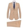 vidaXL bézs, kétrészes férfi öltöny 48-as méret