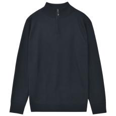 vidaXL cipzáros férfi pulóver sötétkék L