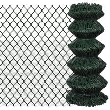 vidaXL Drótkerítés háló 0,8 x 15 m Zöld építőanyag