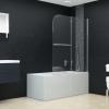 vidaXL ESG zuhanykabin 2-paneles összecsukható ajtóval 120 x 140 cm
