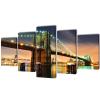 vidaXL Falra Nyomtatott Brooklyn-híd 200 x 100 cm