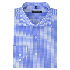 vidaXL Fehér és világoskék L méretű férfi üzleti ing