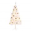 vidaXL fehér műfenyő karácsonyfa díszekkel és LED fényekkel 180 cm