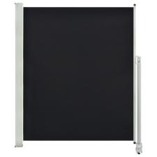 vidaXL fekete behúzható oldalsó terasz napellenző 160 x 300 cm fogó