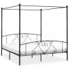 vidaXL Fekete fém baldachinos ágykeret 200 x 200 cm
