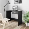 vidaXL Fekete forgácslap íróasztal 100 x 50 x 76 cm