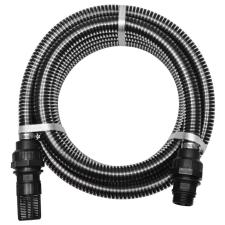 vidaXL fekete szívótömlő csatlakozókkal 7 m 22 mm öntözéstechnikai alkatrész