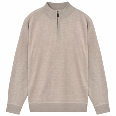 vidaXL férfi cipzáros pulóver bézs M