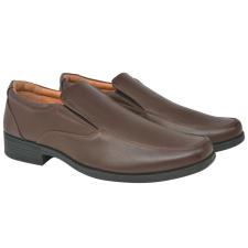 vidaXL Férfi félcipő barna 43-mas méret PU bőr férfi cipő