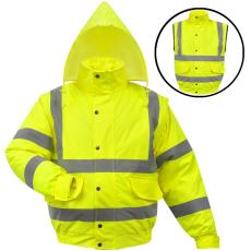 vidaXL férfi fényvisszaverő poliészter kabát méret L sárga