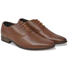 vidaXL Férfi fűzős business cipő barna 40-es méret PU bőr